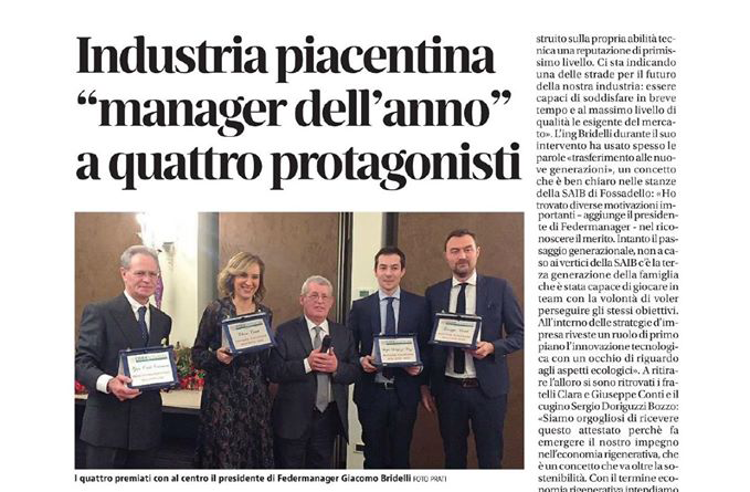 Piacentino entrepreneur of the year