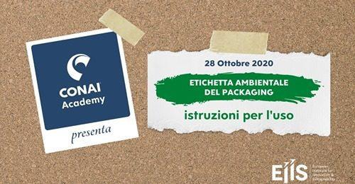 """Grazie a CONAI per l'invito a partecipare al webinar di stamattina """"Etichettatura ambientale degli imballaggi – istruzioni per l'uso""""."""